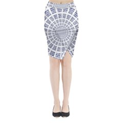 Illustration Binary Null One Figure Abstract Midi Wrap Pencil Skirt