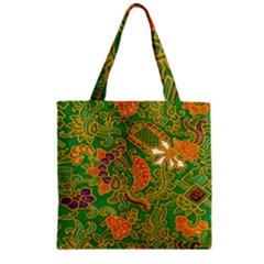 Art Batik The Traditional Fabric Zipper Grocery Tote Bag