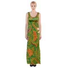 Art Batik The Traditional Fabric Maxi Thigh Split Dress