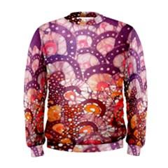 Colorful Art Traditional Batik Pattern Men s Sweatshirt