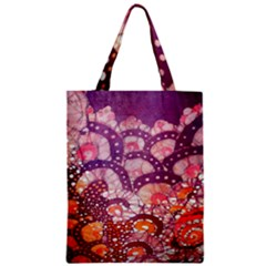 Colorful Art Traditional Batik Pattern Zipper Classic Tote Bag