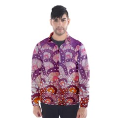 Colorful Art Traditional Batik Pattern Wind Breaker (men)