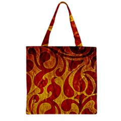 Abstract Pattern Zipper Grocery Tote Bag