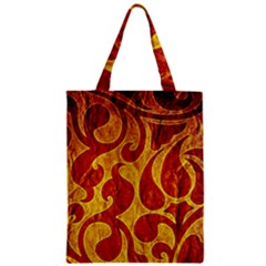 Abstract Pattern Zipper Classic Tote Bag