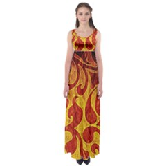 Abstract Pattern Empire Waist Maxi Dress