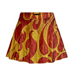 Abstract Pattern Mini Flare Skirt