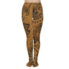 Art Traditional Batik Flower Pattern Women s Tights