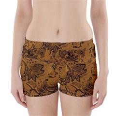 Art Traditional Batik Flower Pattern Boyleg Bikini Wrap Bottoms