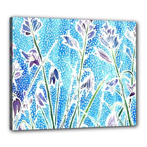Art Batik Flowers Pattern Canvas 24  X 20
