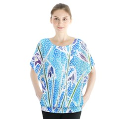 Art Batik Flowers Pattern Blouse