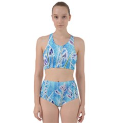Art Batik Flowers Pattern Bikini Swimsuit Spa Swimsuit
