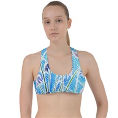 Art Batik Flowers Pattern Criss Cross Racerback Sports Bra