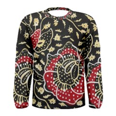 Art Batik Pattern Men s Long Sleeve Tee