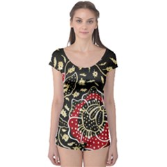 Art Batik Pattern Boyleg Leotard