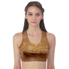Batik Art Pattern Sports Bra