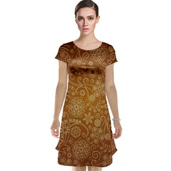 Batik Art Pattern Cap Sleeve Nightdress