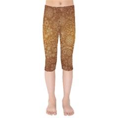 Batik Art Pattern Kids  Capri Leggings