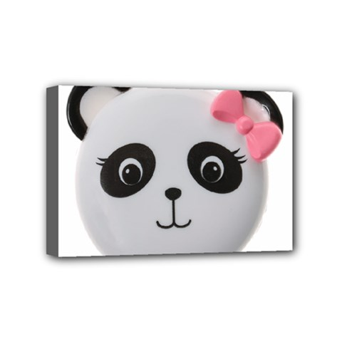 Pretty Cute Panda Mini Canvas 6  X 4
