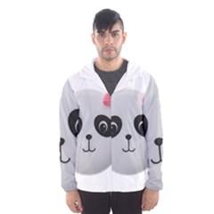 Pretty Cute Panda Hooded Wind Breaker (men)