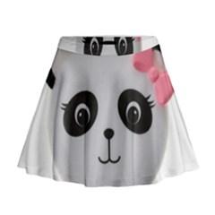 Pretty Cute Panda Mini Flare Skirt