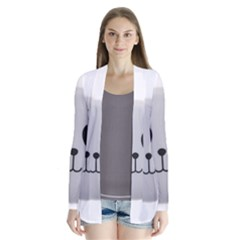 Pretty Cute Panda Drape Collar Cardigan