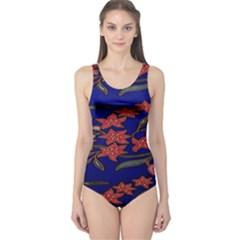 Batik  Fabric One Piece Swimsuit