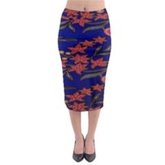 Batik  Fabric Midi Pencil Skirt