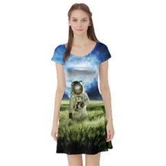Astronaut Short Sleeve Skater Dress