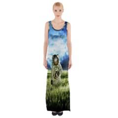 Astronaut Maxi Thigh Split Dress