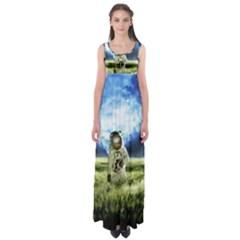 Astronaut Empire Waist Maxi Dress