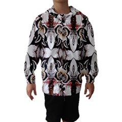 Art Traditional Batik Flower Pattern Hooded Wind Breaker (kids)