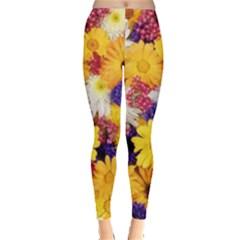 Colorful Flowers Pattern Leggings