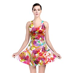 Abstract Colorful Heart Reversible Skater Dress