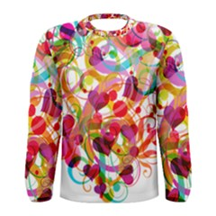Abstract Colorful Heart Men s Long Sleeve Tee