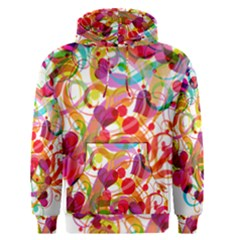 Abstract Colorful Heart Men s Pullover Hoodie