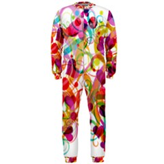 Abstract Colorful Heart Onepiece Jumpsuit (men)