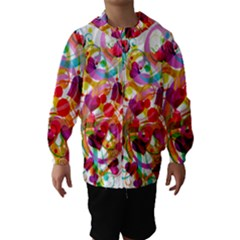 Abstract Colorful Heart Hooded Wind Breaker (kids)