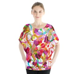 Abstract Colorful Heart Blouse