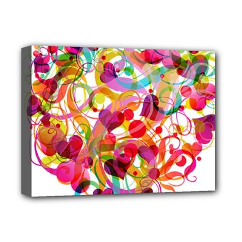 Abstract Colorful Heart Deluxe Canvas 16  X 12