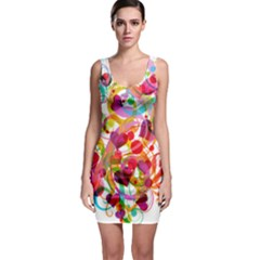 Abstract Colorful Heart Bodycon Dress