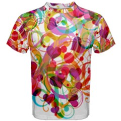 Abstract Colorful Heart Men s Cotton Tee