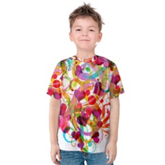Abstract Colorful Heart Kids  Cotton Tee