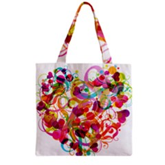 Abstract Colorful Heart Grocery Tote Bag