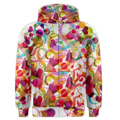 Abstract Colorful Heart Men s Zipper Hoodie