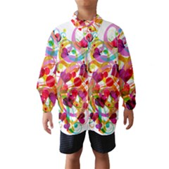 Abstract Colorful Heart Wind Breaker (kids)