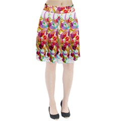 Abstract Colorful Heart Pleated Skirt