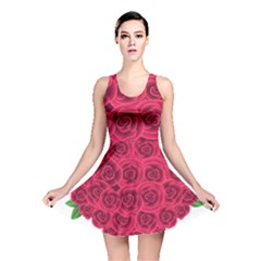 Floral Heart Reversible Skater Dress