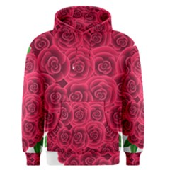 Floral Heart Men s Pullover Hoodie