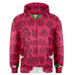 Floral Heart Men s Zipper Hoodie
