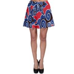 Batik Background Vector Skater Skirt